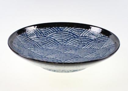 Blue Waves Open Dinner Plate